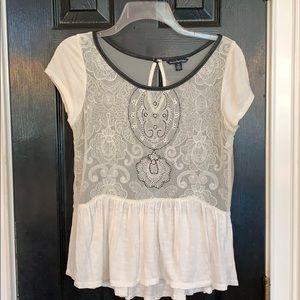 American Eagle sheer blouse medium